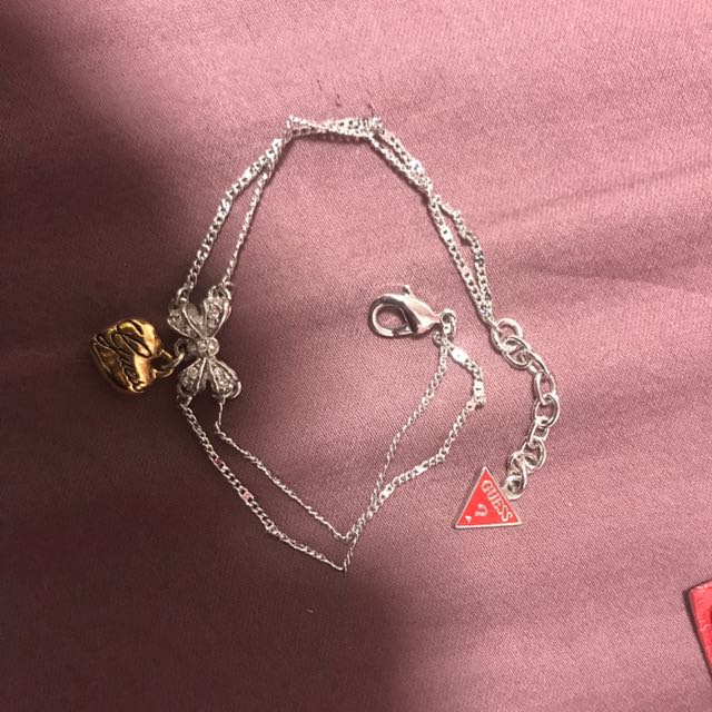 Guess heart and bow bracelet