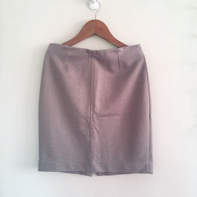 Heathergrey Structured Pencil Skirt
