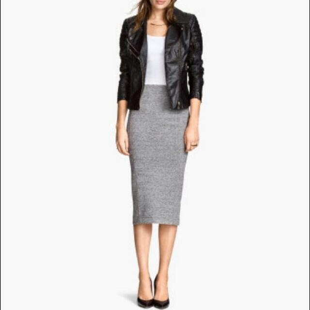 7b2cef9dd45c H&M Grey Pencil Skirt, Women's Fashion, Clothes, Dresses & Skirts on  Carousell