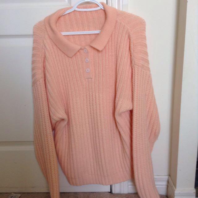 H&m peach sweater