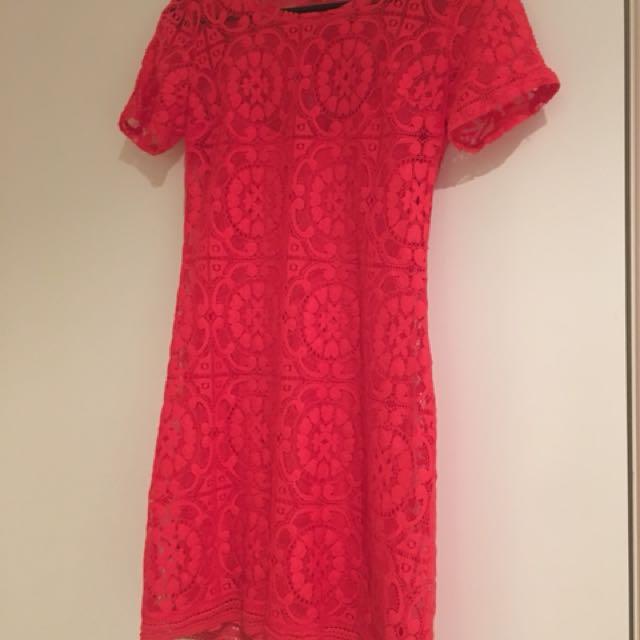 Holister burnt orange/red mini dress