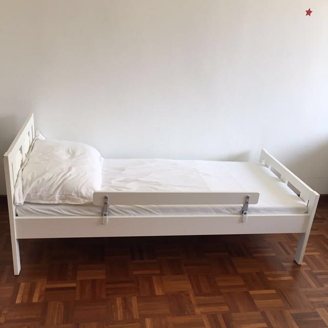 ikea kritter bed frame and mattress furniture beds mattresses on carousell. Black Bedroom Furniture Sets. Home Design Ideas