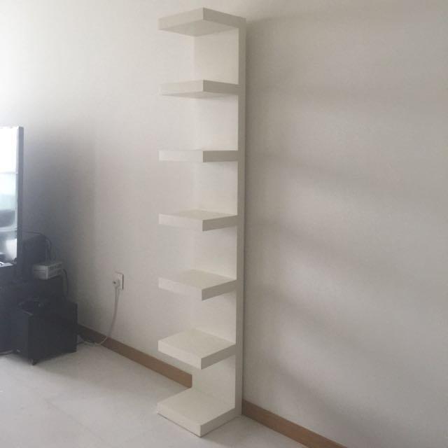 ikea lack wall shelf unit white 30x190 cm furniture shelves drawers on carousell. Black Bedroom Furniture Sets. Home Design Ideas