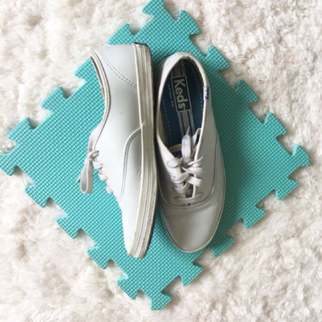 Keds White Champion Leather Shoes