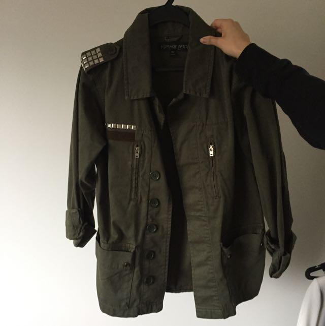 Khaki Topshop Jacket