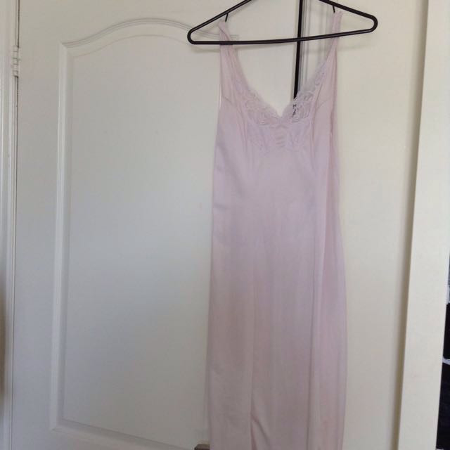 Light pink silk nightgown