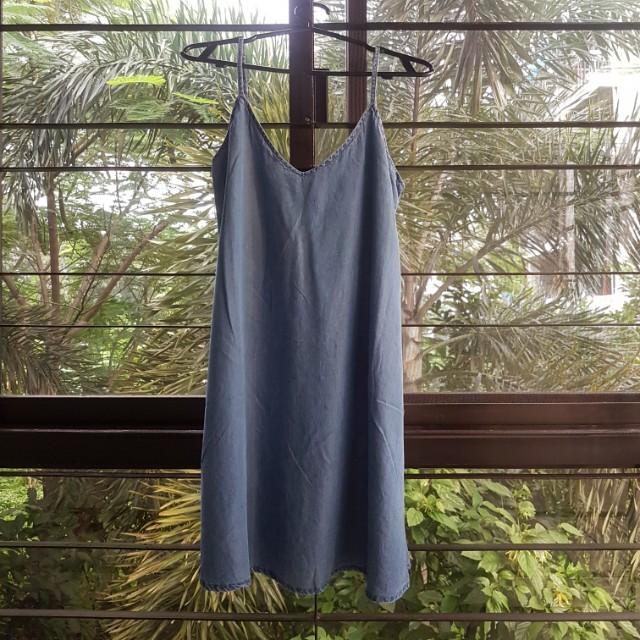 Mango Denim Camisole Dress