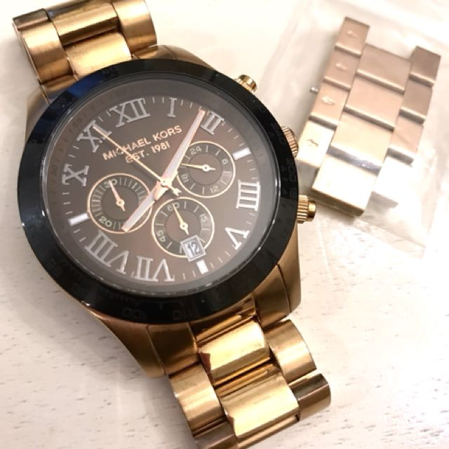 46b6e9f4f0e9 Michael Kors Layton Chronograph Stainless Steel (Rose Gold)
