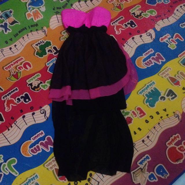 Minidress black-pink