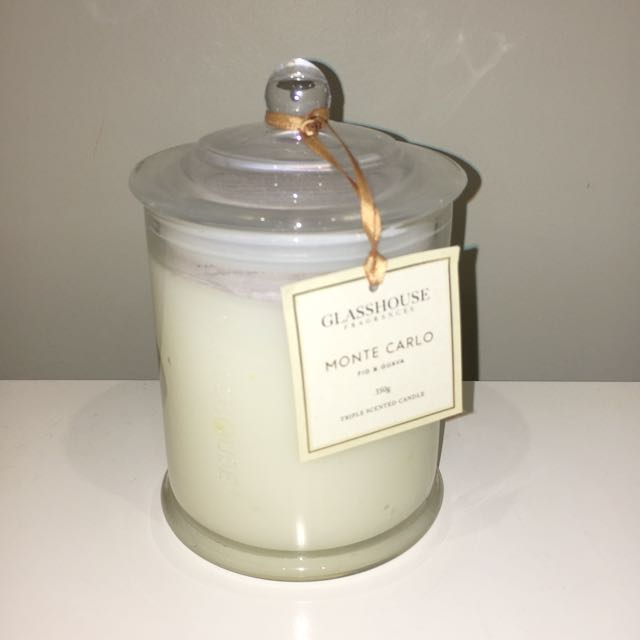 Monte Carlo large glasshouse candle!