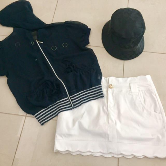 Navy blue jacket - Skirt/Shorts