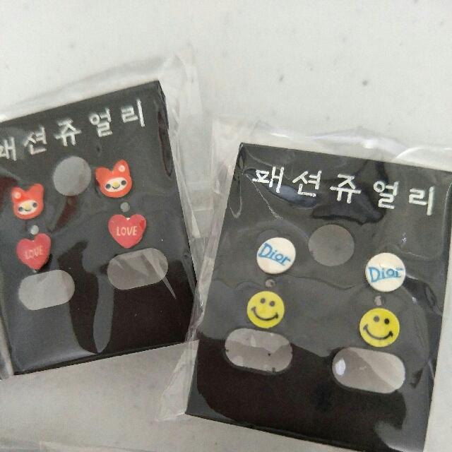 NEW 10 pairs Cute Stud Earrings