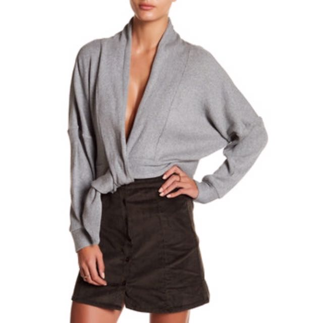 New Loop Front Cardigan in Gray