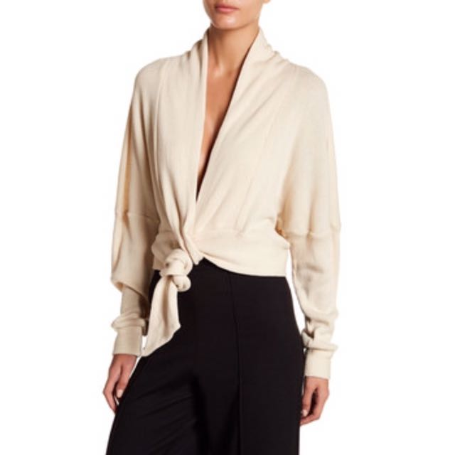 New Loop Front Cardigan in Ivory