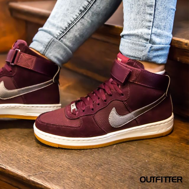 new styles abb3b 95936 Home Nike Air Force 1 Ultra Force Mid Burgundy Trainers.  image.AlternateText Home · Womens Fashion · Shoes. photo photo .