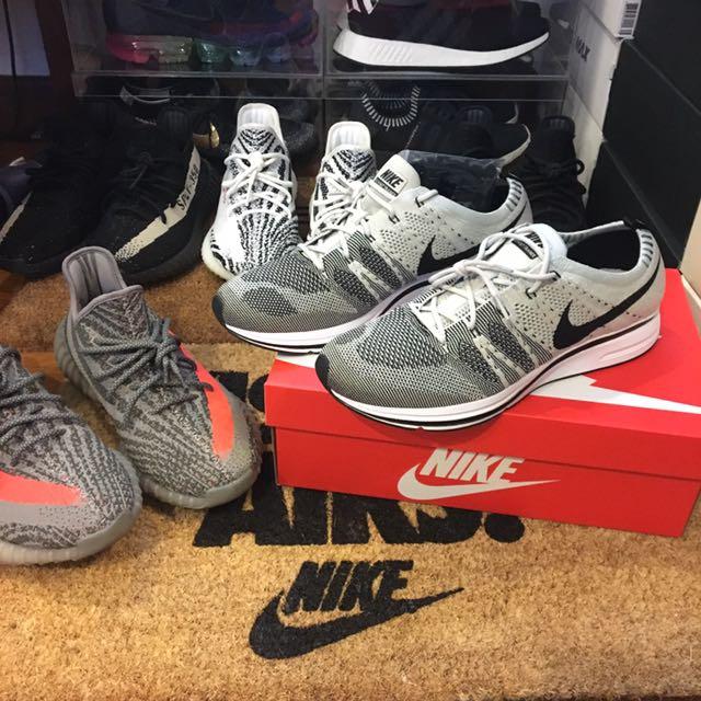 9b8779315bb21 Nike flyknit trainer Pale Grey