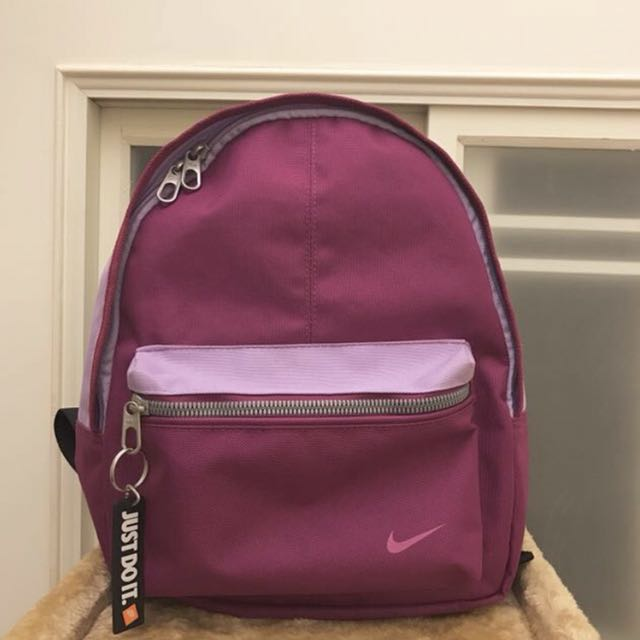Nike just do it 後背小包 兒童包 酒紅紫 淺紫 #我有後背包要賣
