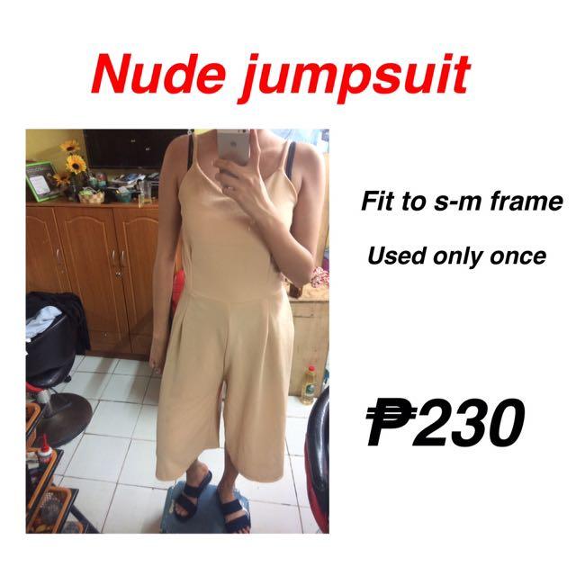 Nude jumpsuit