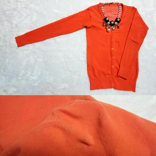 Orange Cardi
