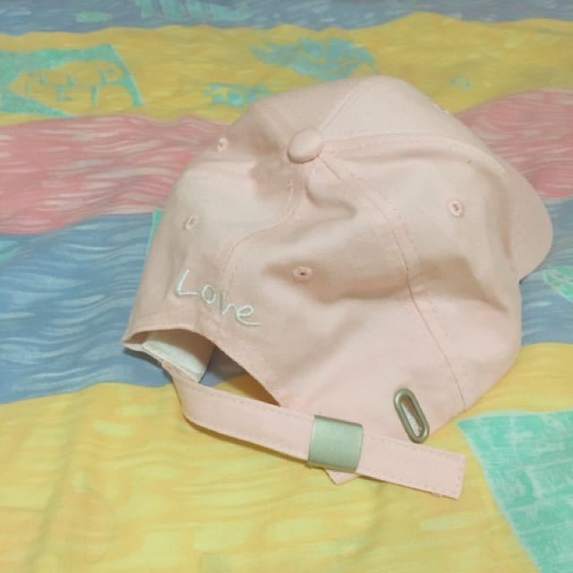 Pink Korean Style Snapping Hand Baseball Cap