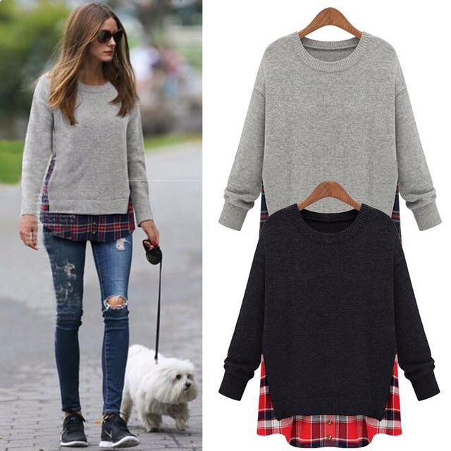 Plussize pullover thick blouse