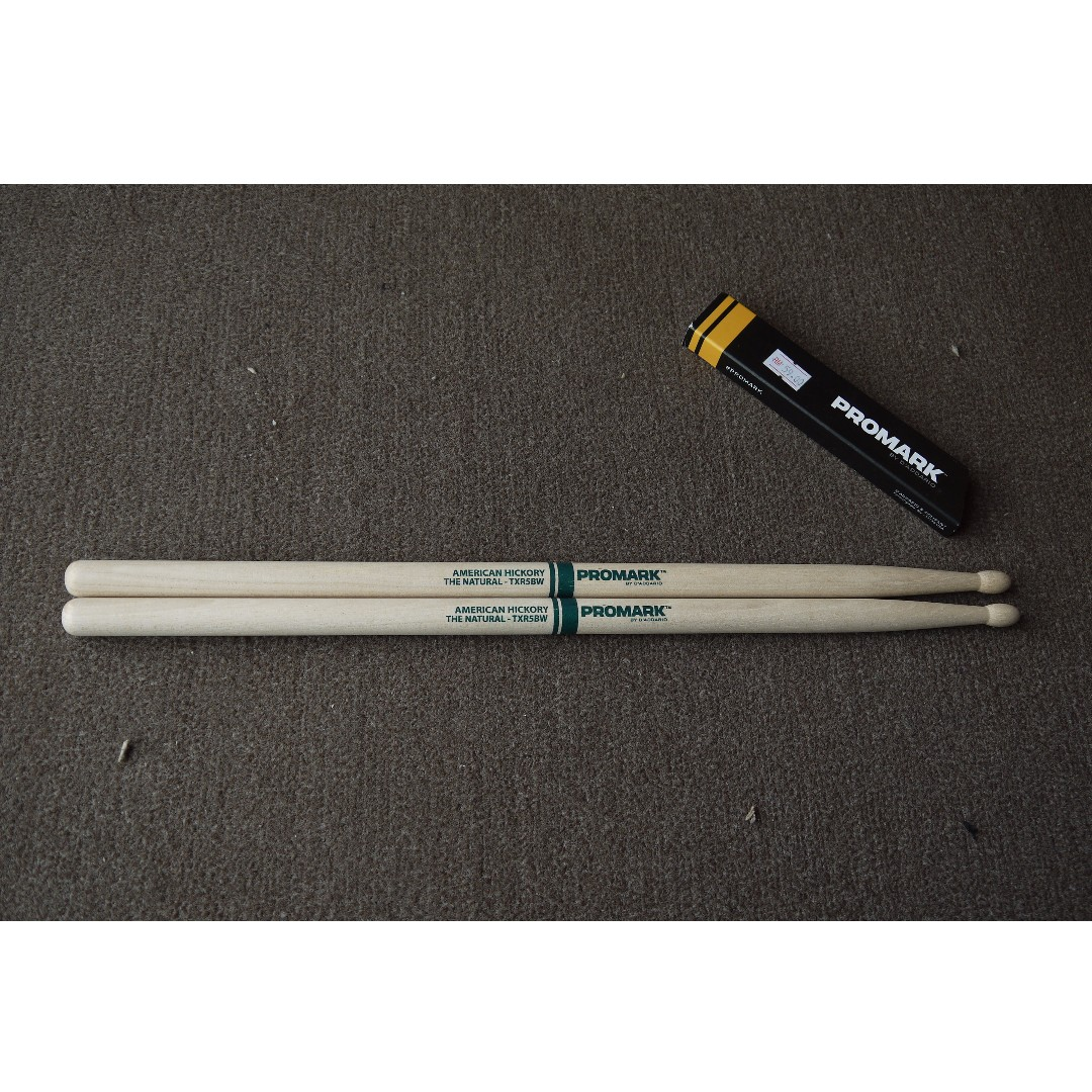 Promark Hickory TXR5BW The Natural Wood Tip Drumsticks