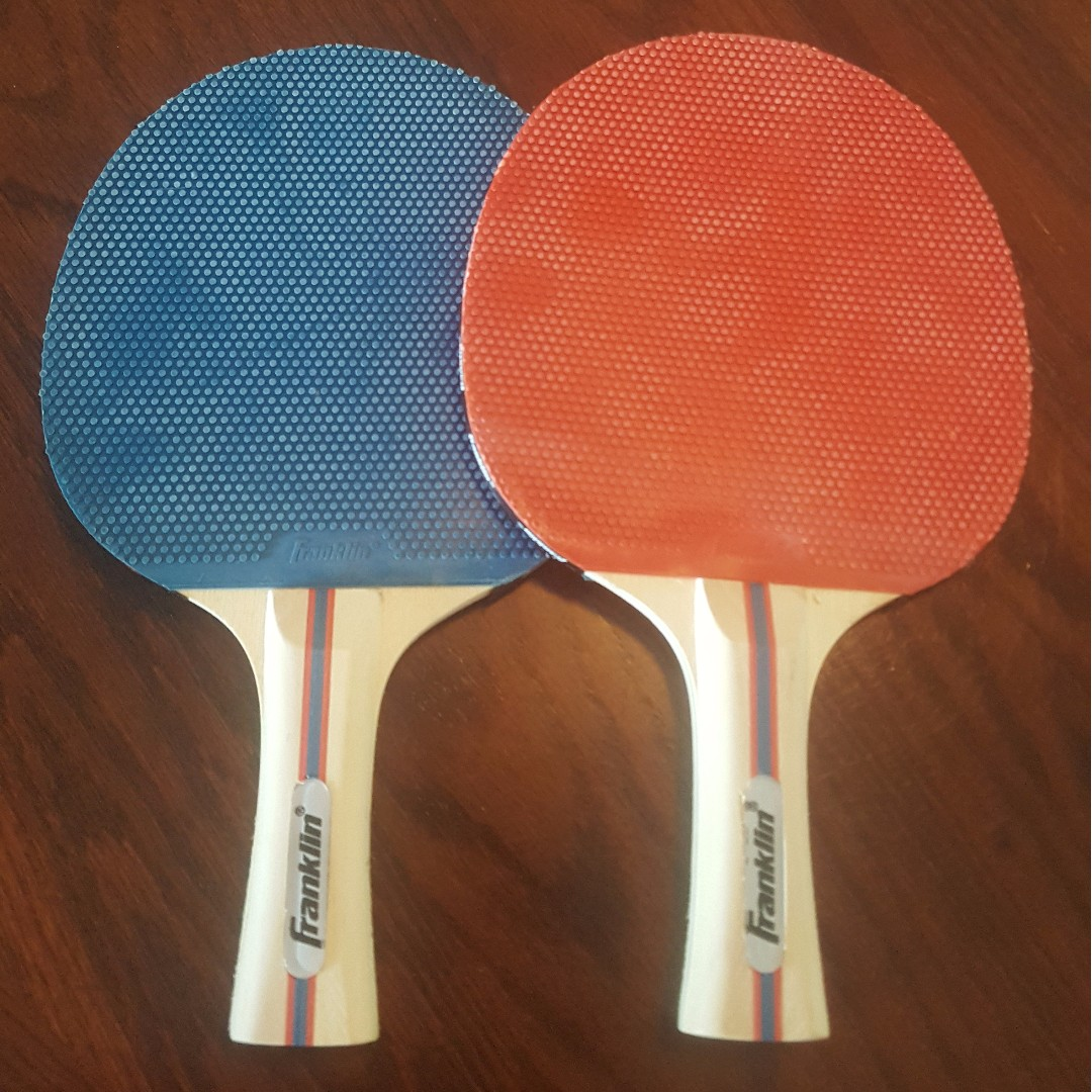 Red & Blue Franklin Ping pong paddles