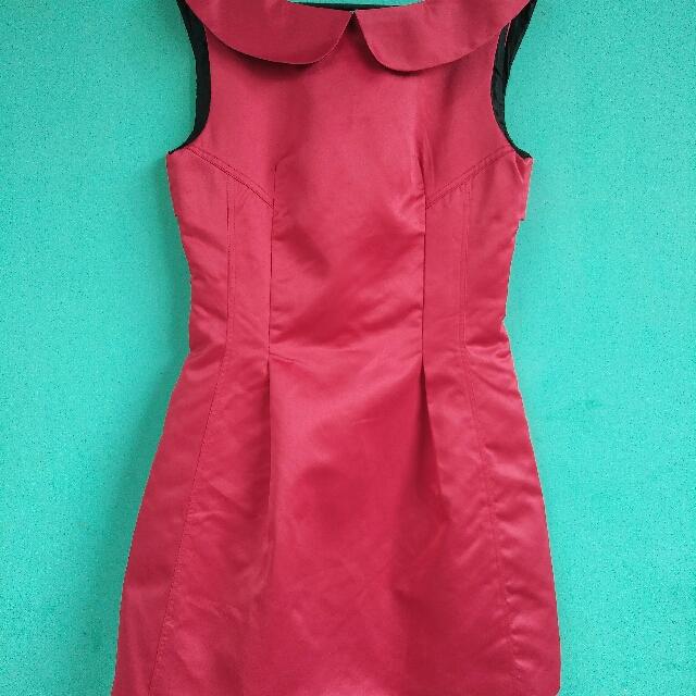 red cufn basic dress