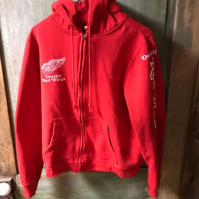 Red Detroit red wings zip up hoodie