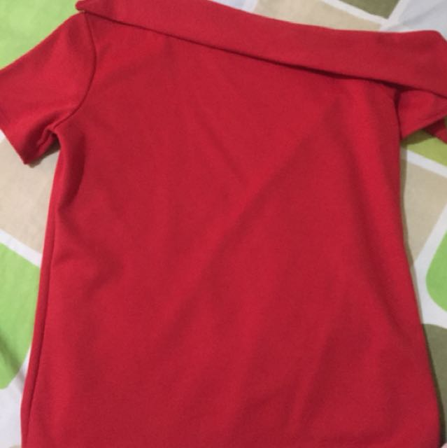 Red One Side Top