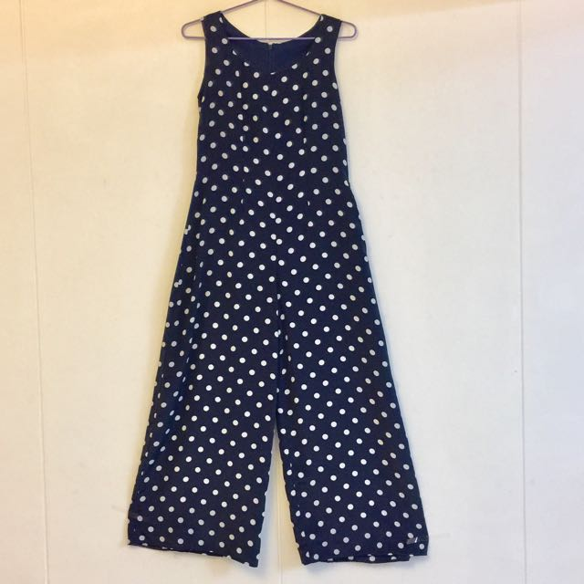 824a7375cbb ⬇️Reduced to  12 M Size Navy Blue White Polka Dots Jumpsuit ...