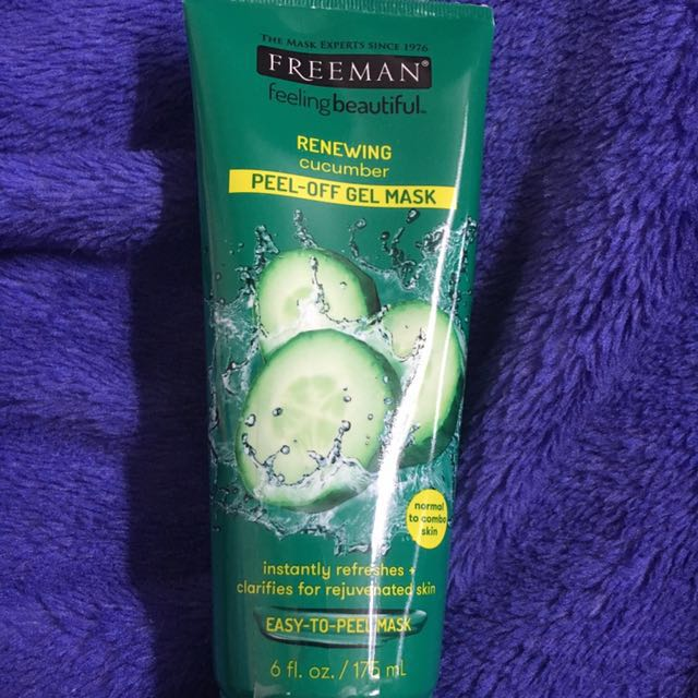 Renewing cucumber peel off gel mask