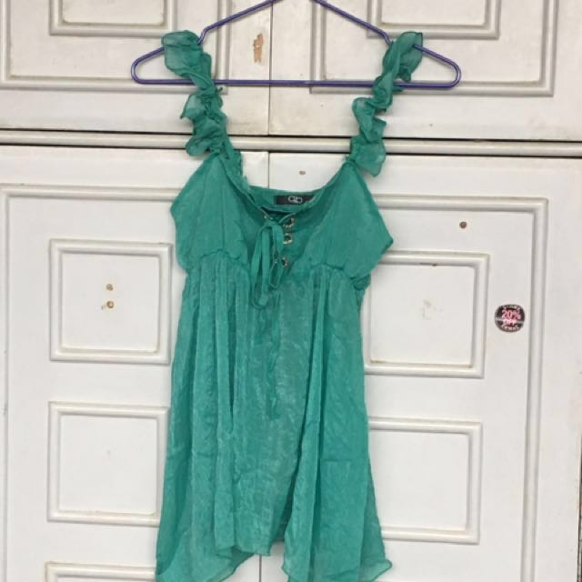 ⭐️Repriced⭐️Green Top/Beach Cover Up from 120 now 100