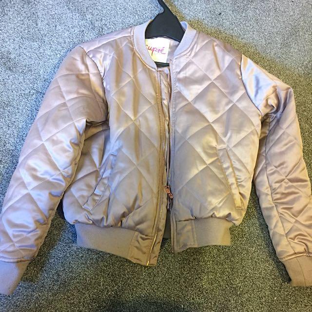 Rose gold supre jacket