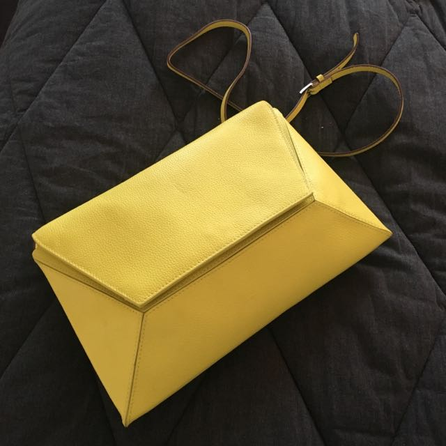 Saba Citron Yellow Handbag / clutch with removable Shoulder Strap