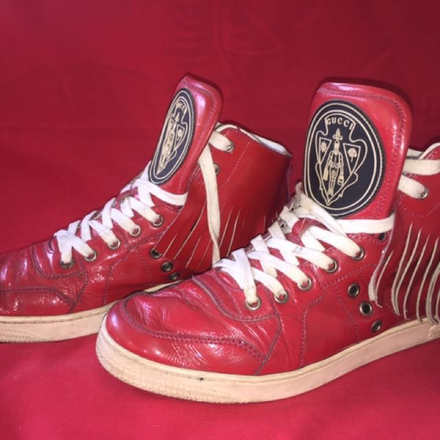 SALE!!! Gucci Red Patent Leather Sneakers