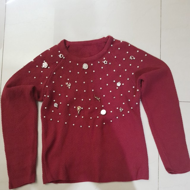 Set Knitted (Red color)