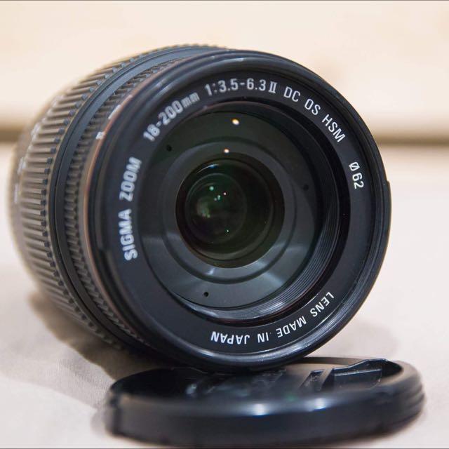 SIGMA 18-200mm F3.5-6.3 變焦鏡頭 旅遊鏡 canon可用