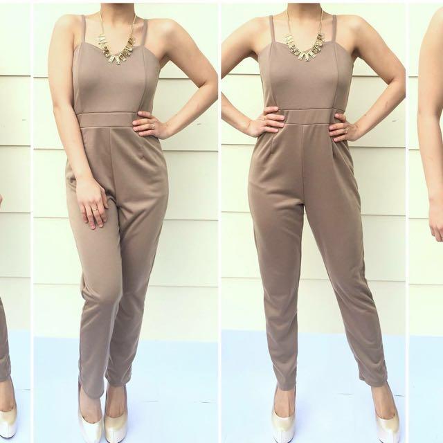 Size 6 Brown Jumpsuit
