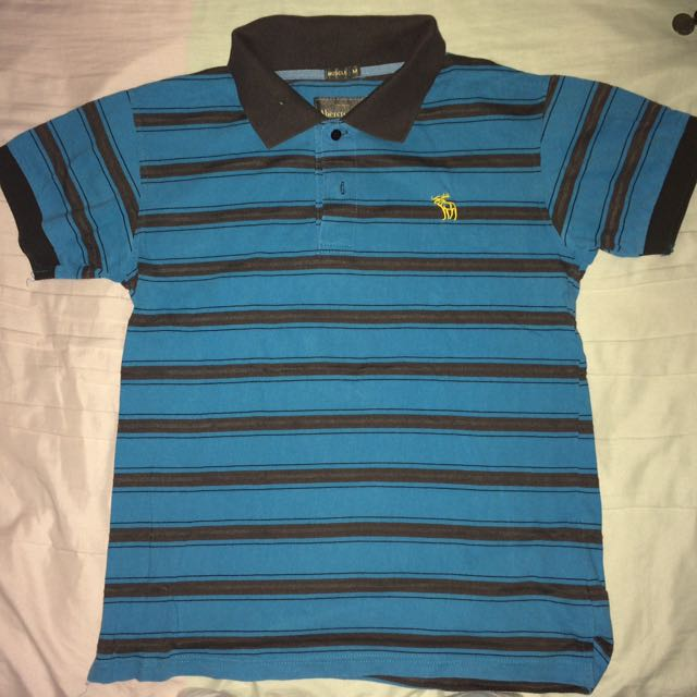 Striped Abercrombie Polo Shirt