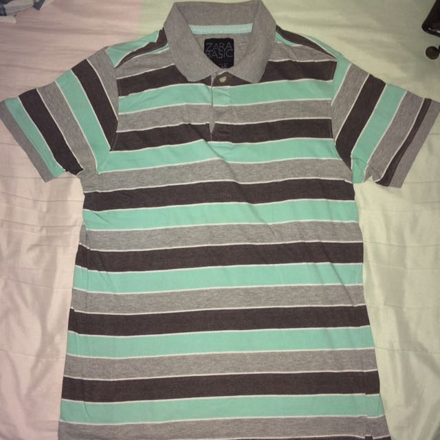 Striped Zara Polo Shirt