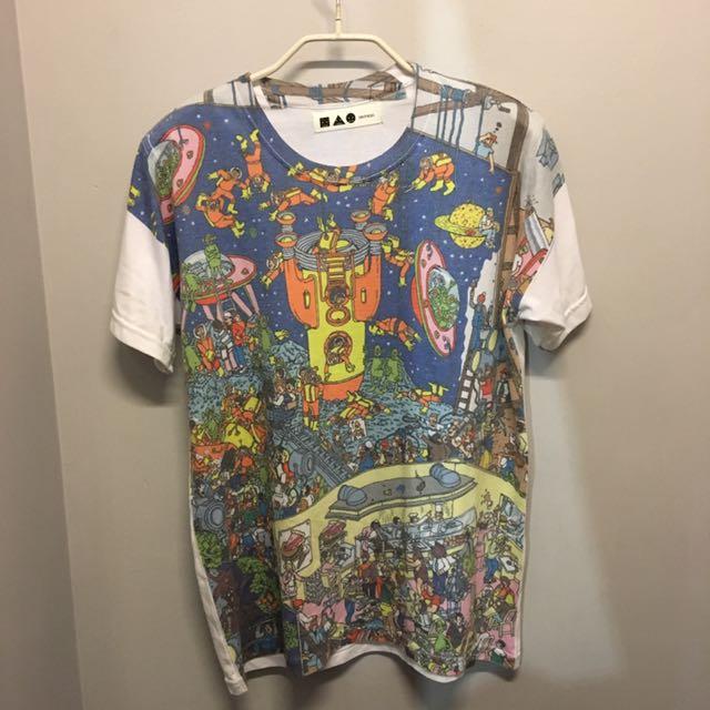 復古太空t恤