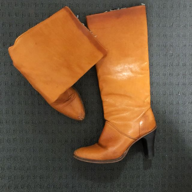 Tan leather boots - dingo brand