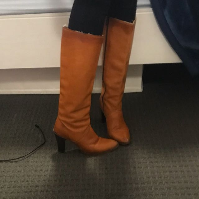 Tan leather boots - dingo brand