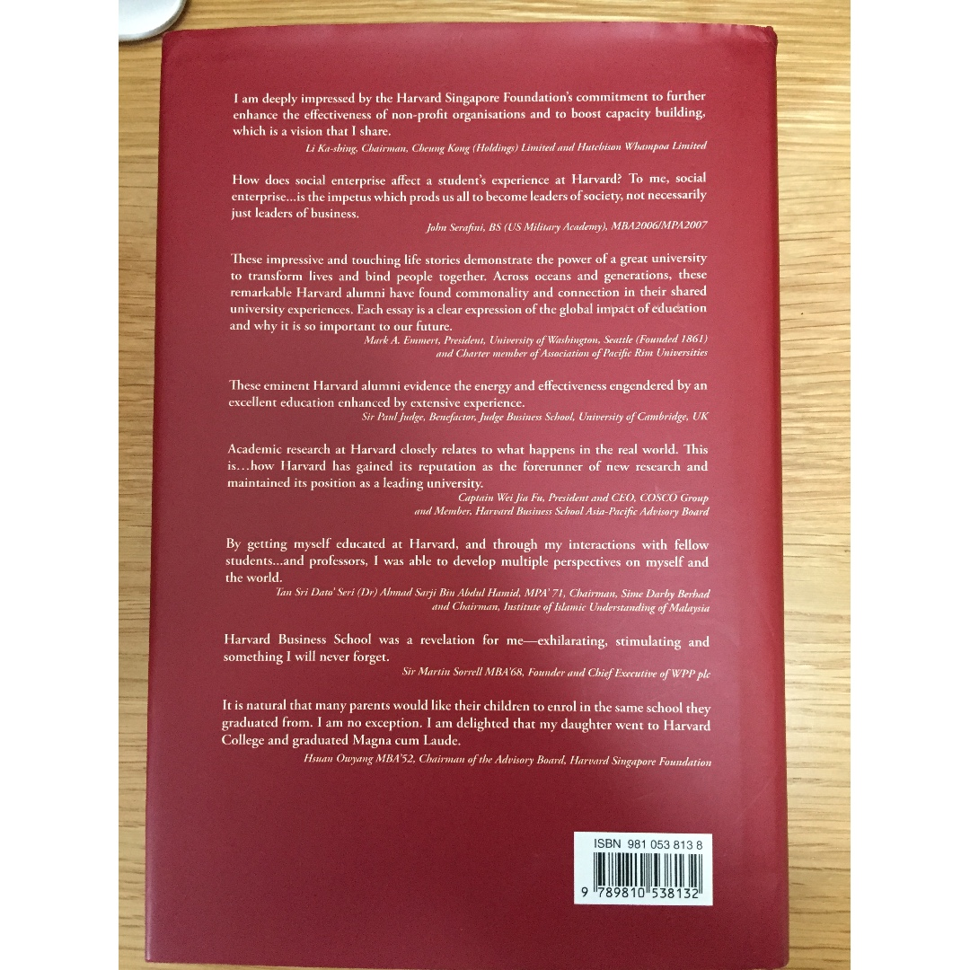 The Harvard Experience: Crimson Essays Hardcover