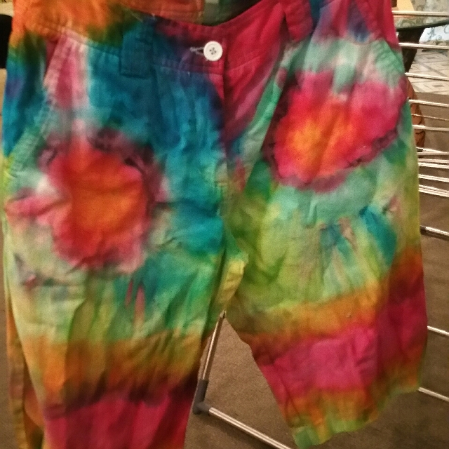 tie dyed ladies shorts