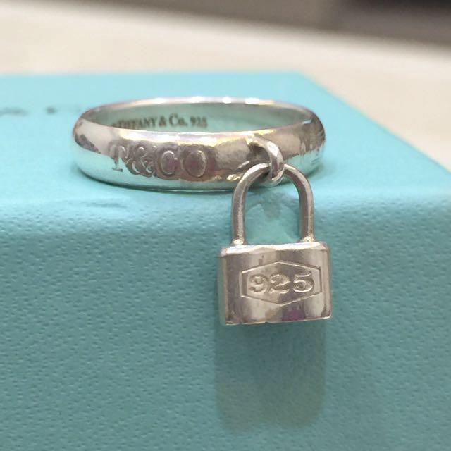 二手真品TIffany&Co 925銀經典 1837鎖頭戒指