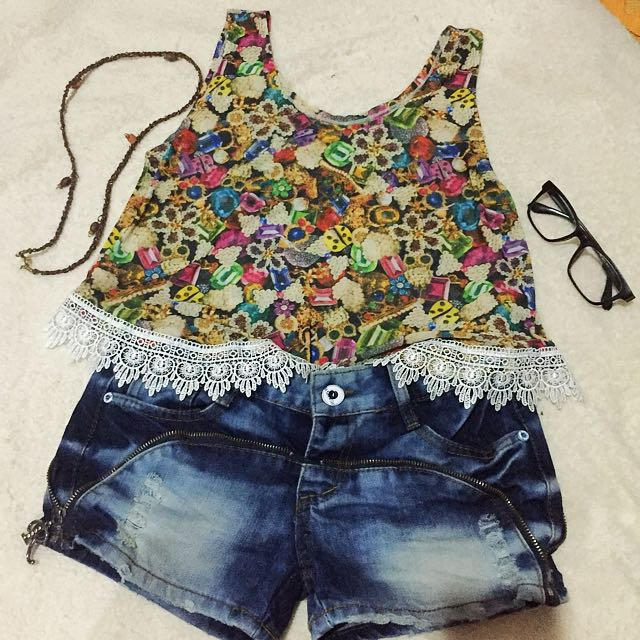 Top and short set