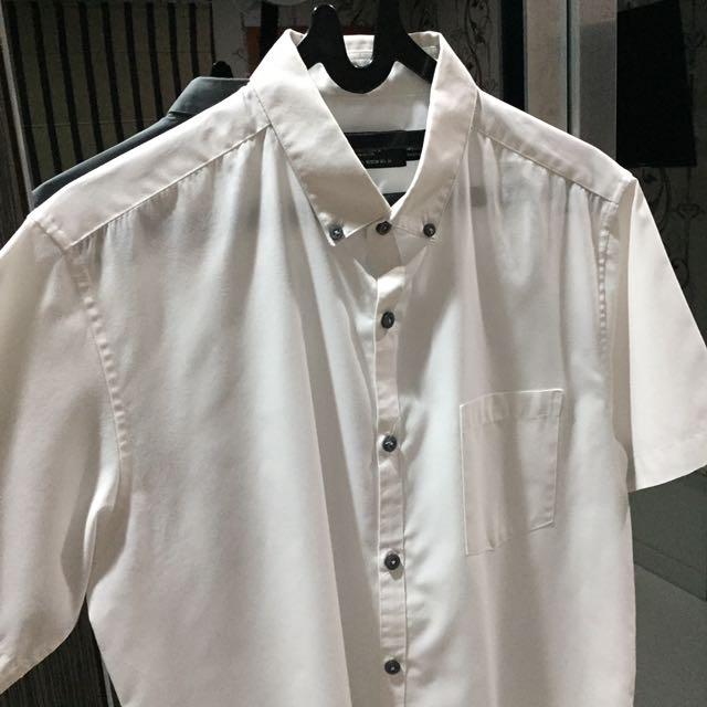 TOPMAN WHITE SHIRT (M)