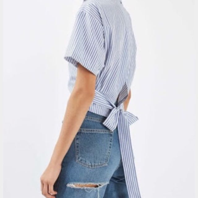 Topshop open back shirt